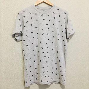 Disney Mickey Mouse Grey Tshirt Medium
